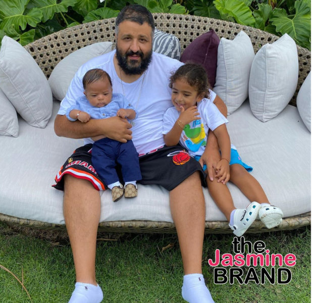DJ Khaled Is On Proud Daddy Duty w/ His 2 Sons [WATCH]