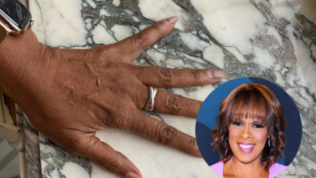 "Gayle King Shows Off Her Struggling Nails, Discovers She Has Wrinkled ""Old Lady Hands"" [Photo]"