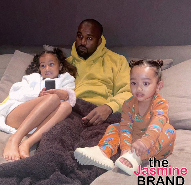 Kanye West Cozies Up To Daughters North & Chicago In Adorable Photo