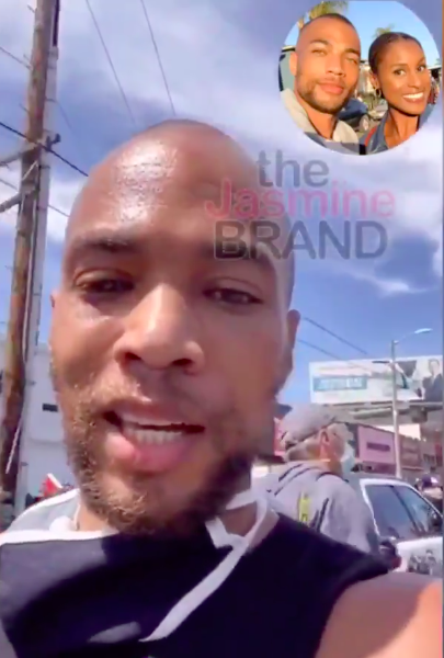 'Insecure' Actor Kendrick Sampson Hit By Police w/ Batons & Rubber Bullets While Protesting In L.A.