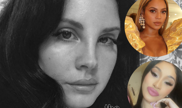 Lana Del Rey Name Drops Beyonce & Cardi B For 'Having #1 Songs w/ Wearing No Clothes', Denies Claims She 'Glamorizes Abuse'