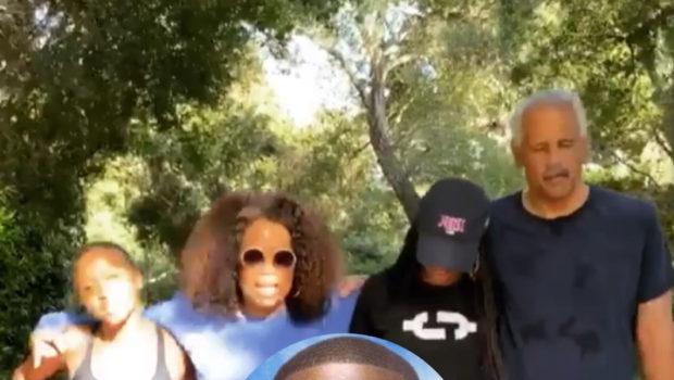 Oprah Winfrey & Stedman Graham Honor Ahmaud Arbery's Birthday With A 2.6 Mile Walk