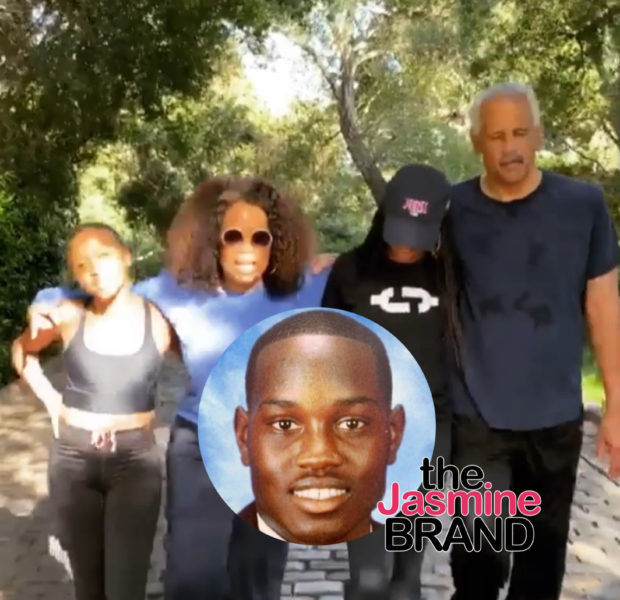 Oprah Winfrey & Stedman Graham Honor Ahmaud Arbery's Birthday With A 2.6 Mile Walk
