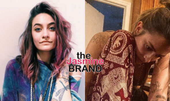 Paris Jackson Gives Herself A Foot Tattoo