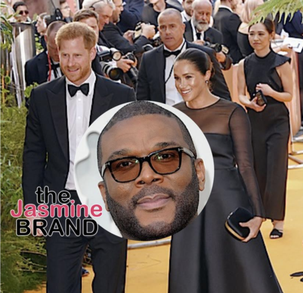 Tyler Perry Pretends To Lose Connection When Asked About Prince Harry & Meghan Markle Living In His L.A. Mansion [WATCH]