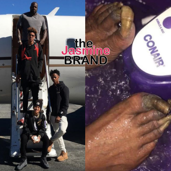 Shaq's Kids React To Him Showing Off His Feet: Why Would You Post This?!