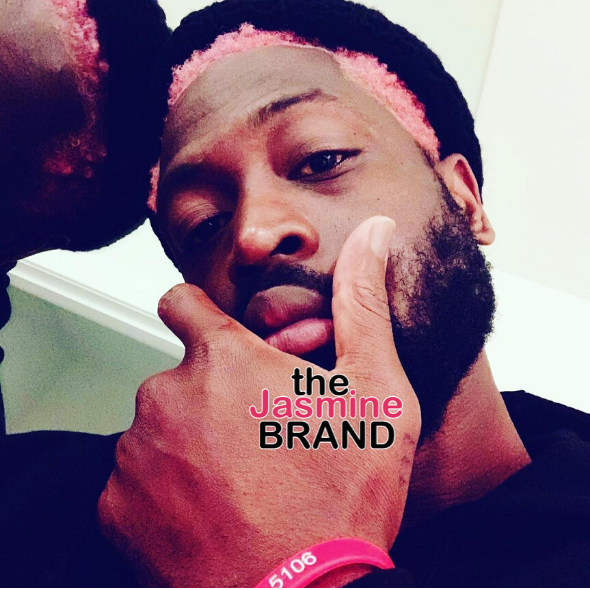 Dwyane Wade Debuts New Look With Pink Hair!