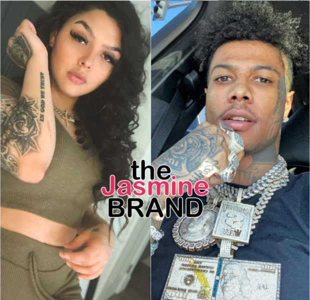Blueface Shares Video Of His Baby Mother Smashing His Windows With A Shovel As He Hides In Their Home