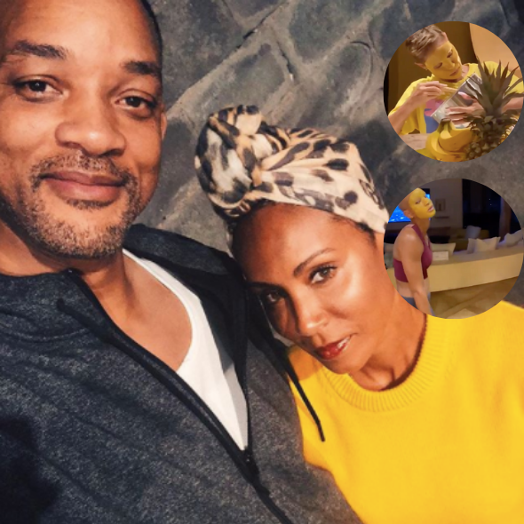 Will Smith Catches Wife Jada & Daughter Willow Baking With Beauty Face Masks [WATCH]