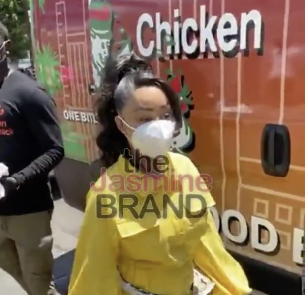 Blac Chyna Spotted Giving Back On Skid Row In Los Angeles [VIDEO]