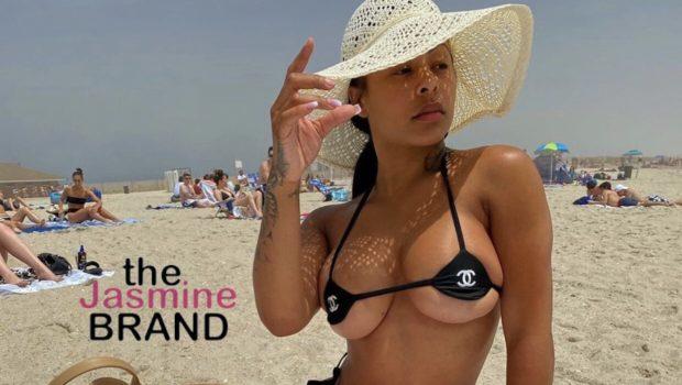 Alexis Skyy Rocks Tiny Chanel Bikini At The Beach [PHOTOS]