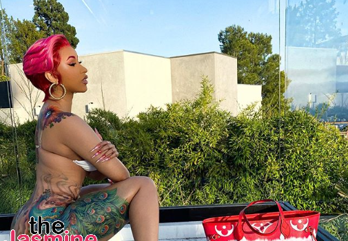 Cardi B Revamps Her Signature Peacock Tattoo [PHOTOS]