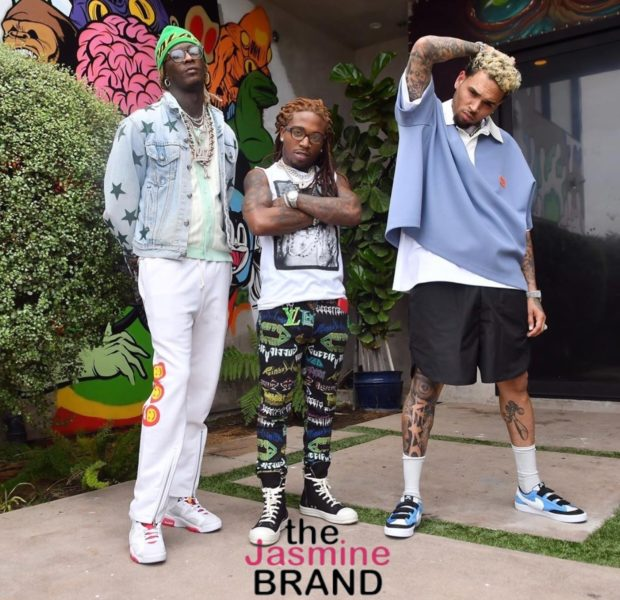 Chris Brown Posts Up W/ Young Thug & Jacquees