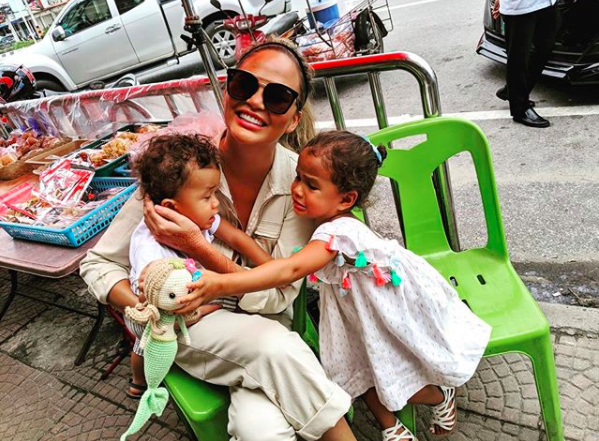 Chrissy Teigen's Kids Write Her Hilarious Notes After She Removes Breast Implants: Bye Boobies!
