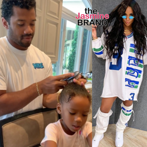 Ciara Shares Adorable Video Of Russell Wilson Doing Daughter Sienna's Hair [WATCH]