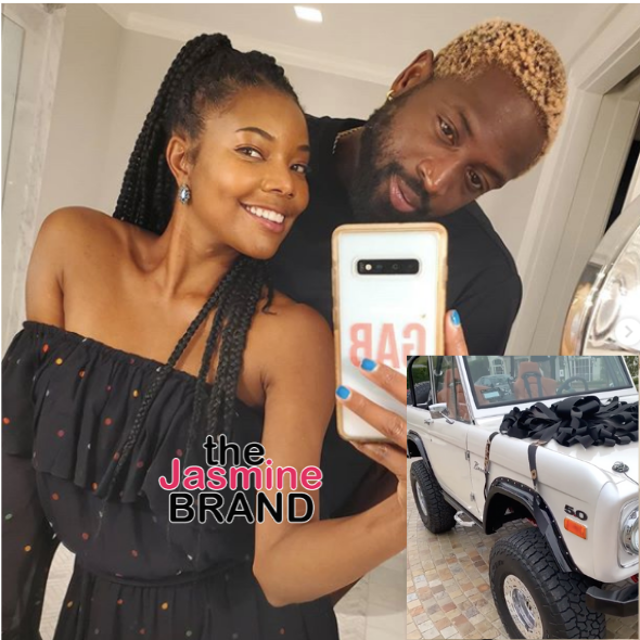 Gabrielle Union Gifts Dwyane Wade w/ A White Bronco For Father's Day [VIDEO]