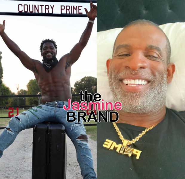 Antonio Brown Bonds W/ His 'Pops' Deion Sanders Following NFL Drama