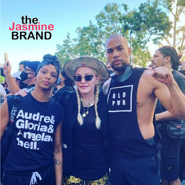 Madonna Spotted Protesting With 'Insecure' Actor Kendrick Sampson