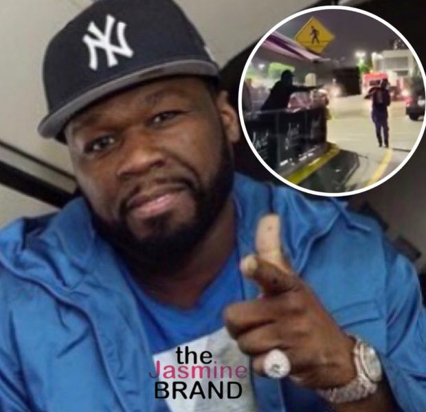50 Cent Seen Throwing Tables & Chairs At Man During A Heated Exchange