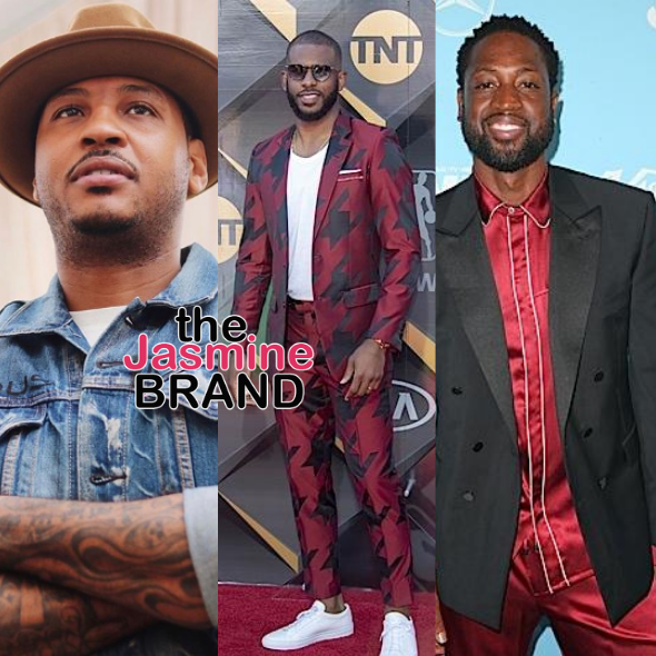 Carmelo Anthony, Chris Paul & Dwayne Wade Launch Fund For Social Change