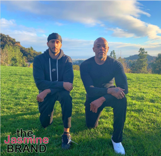 Dr. Dre Takes A Knee With Colin Kaepernick