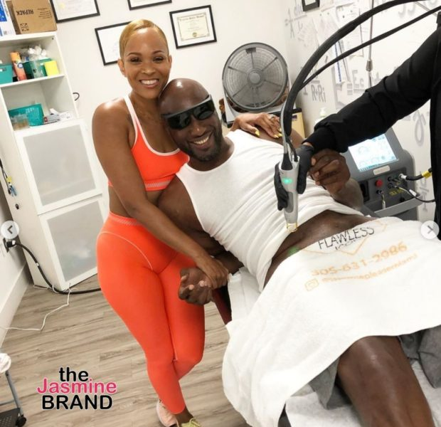 Lamar Odom Shows His Manscaping Experience, Fiancée Sabrina Parr Joins Him [WATCH]