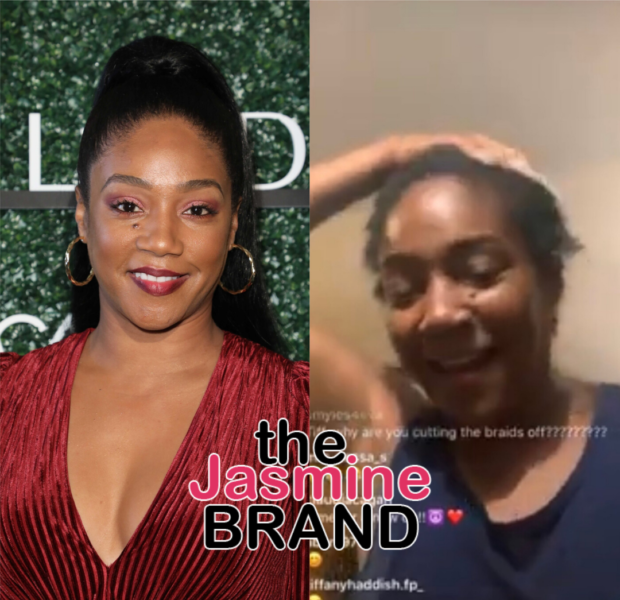 """Tiffany Haddish Denies She's """"Lost Her Mind """" After Cutting Her Hair Completely Off:Why When A Woman Decides She's Cutting Her Hair, She Has A Mental Problem? Nothing Is Wrong WithMy Brain!"""