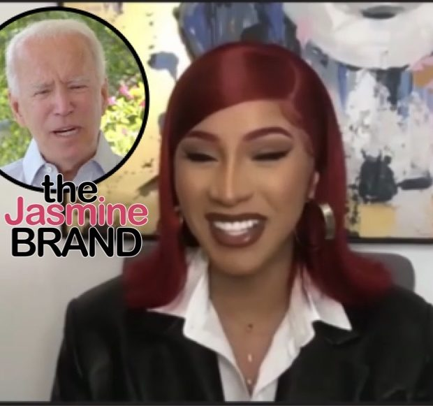 Cardi B Interviews Joe Biden, Tells Him: Let Me Keep It A Buck – I Want Trump Out Of Here! [VIDEO]