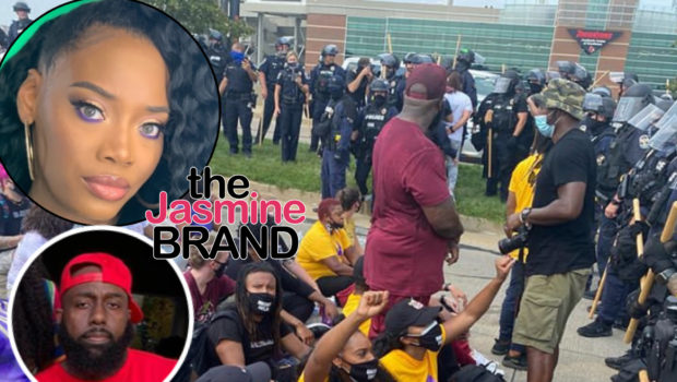 Yandy Smith, Trae Tha Truth & Porsha Williams Arrested At Breonna Taylor Protest + Yandy Sneaks Phone In During Arrest & Documents Incident [VIDEO]