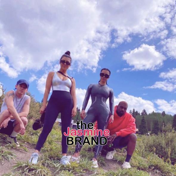 Kim & Kourtney Kardashian, Kanye West Enjoy Family Time [PHOTOS]