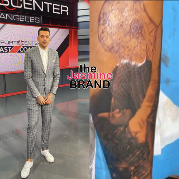 Matt Barnes Gets New Ink In Memory Of Kobe & Gianna Bryant [PHOTOS]