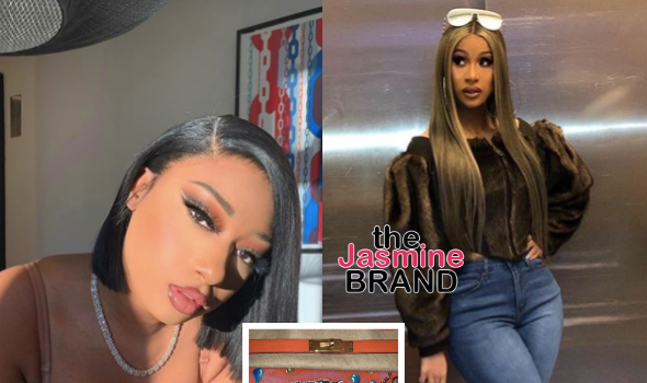 Cardi B Gifts Megan Thee Stallion W/ A Birkin Bag [WATCH]