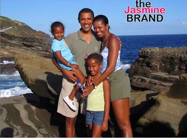 Michelle Obama Celebrates Barack Obama's Birthday W/ A Throwback Family Photo
