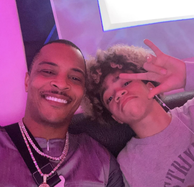 T.I. Seemingly Catches His 15 Year Old Son King Smoking While On IG Live [VIDEO]