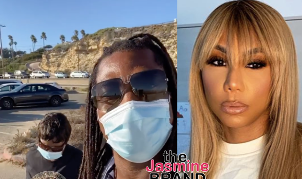 Tamar Braxton's Fiancé David Adefeso Takes Her Son Logan To The Beach [WATCH]