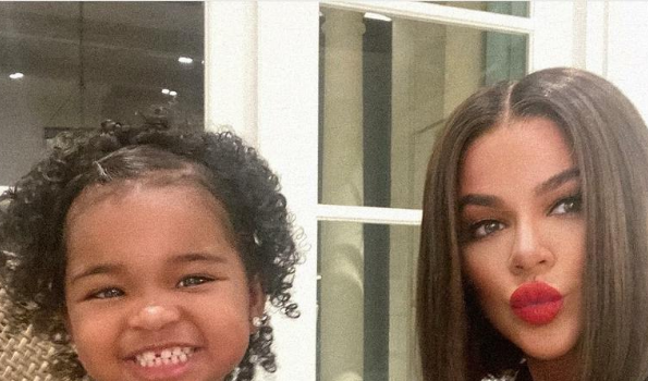 Khloe Kardashian Debuts New Darker Hair With Daughter True + Reacts To Fan Who Doesn't Recognize Her: Be Nice!