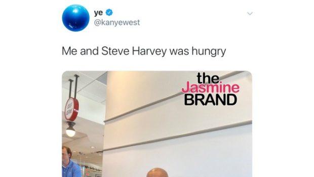 Kanye West Has Lunch With Steve Harvey & Rick Fox [Photo]