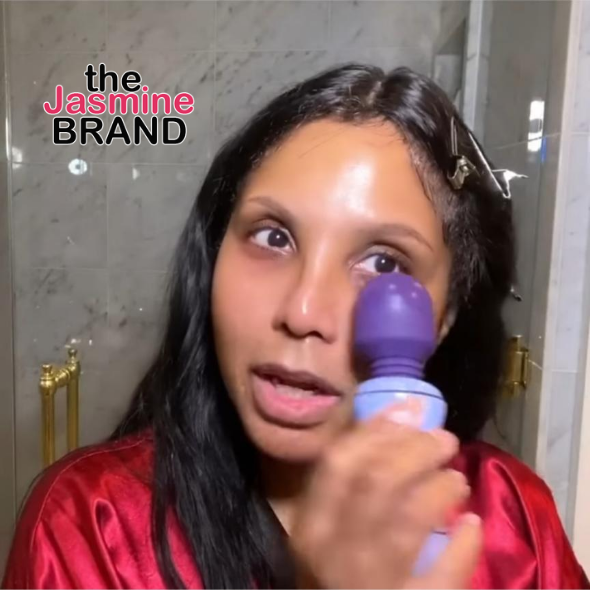 Watch Toni Braxton Use A Vibrator For Her Skincare Routine: I Only Use It On My Face, Honest!