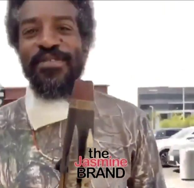 Andre 3000 Spotted Out With His Flute [VIDEO]
