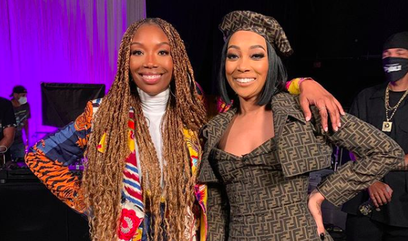 Monica Salutes Brandy: Your Legacy Is Undeniable! + Brandy Jokes About Doing #SoGoneChallenge