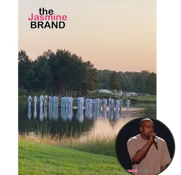 Kanye West, His Children & Choir Appear To Walk On Water At Sunday Service [VIDEO]