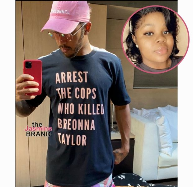 Lewis Hamilton Facing FIA Investigation After Wearing Breonna Taylor T-Shirt At Race