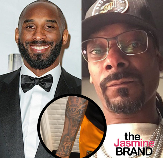 Snoop Dogg Shows Off New Lakers Tattoo With Kobe Bryant's Initials