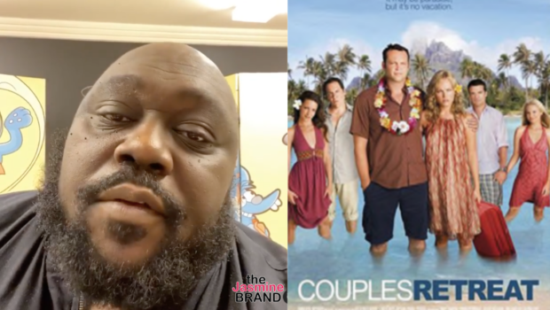 """Faizon Love Sues Universal Pictures For Racial Discrimination Over Black Couple Being Left Out Of """"Couples Retreat"""" Poster"""
