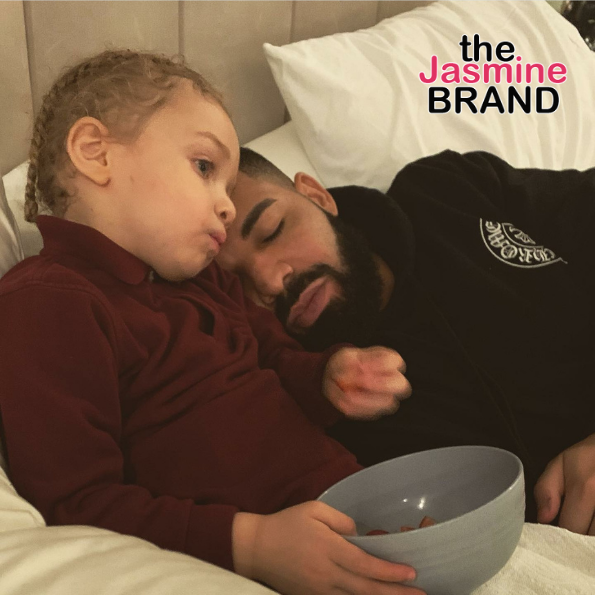 Drake Sweetly Lays On His Three-Year-Old Son Adonis In New Adorable Photo