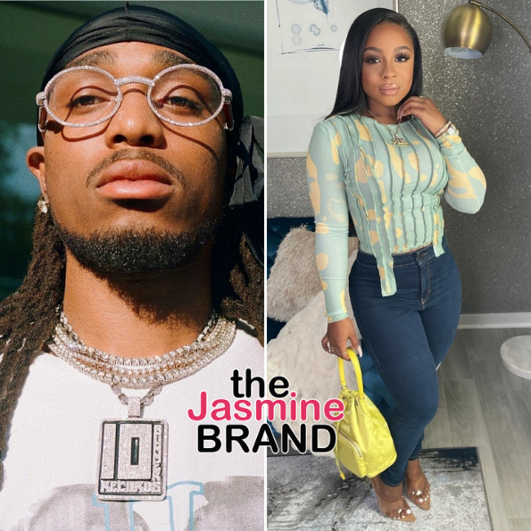 Quavo Quickly Shuts Down Rumor He's Cheating On Girlfriend Saweetie With Reginae Carter