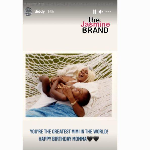 Diddy Mom Million Birthday thejasminebrand 6