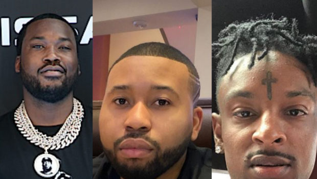 Meek Mill Has Heated Back & Forth Exchange With DJ Akademiks On Clubhouse, 21 Savage Steps In