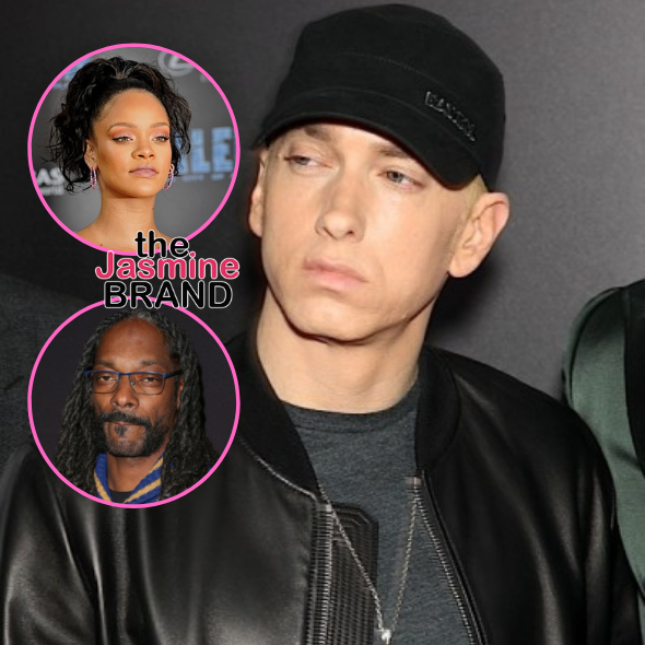 Eminem Admits He Doesn't Remember Rapping Controversial Lyric About Rihanna, Explains Why He Slammed Snoop Dogg On New Surprise Album