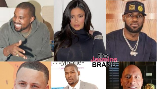Kylie Jenner & Kanye West Are The Highest Paid Celebs Of 2020 – LeBron James, Steph Curry, Kevin Durant & The Rock Also Make List